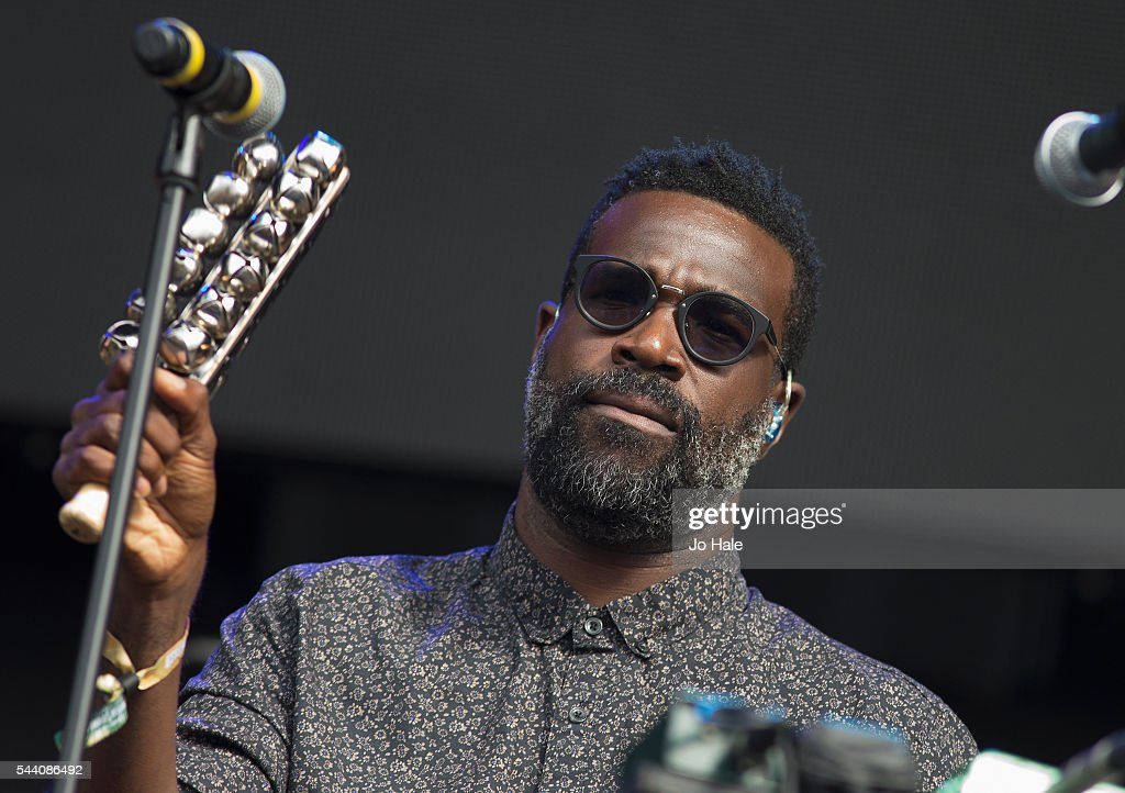 Tunde Adebimpe of TV on the Radio performs as part of Barclay Card Presents British Summer Time Festival: Day 1 at Hyde Park on July 1, 2016 in London, England.