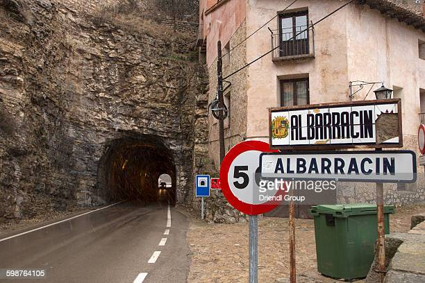 Tunel entrance to the Medieval town of Albarracin