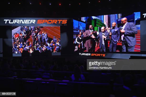 Tuner Sports reel plays onstage during the Turner Upfront 2017 show at The Theater at Madison Square Garden on May 17 2017 in New York City 26617_003