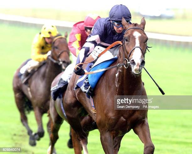 Tungsten Strike ridden by Jockey Martin Dwyer wins the Newmarket 115 The Unicorn Homes Noel Murless Stakes