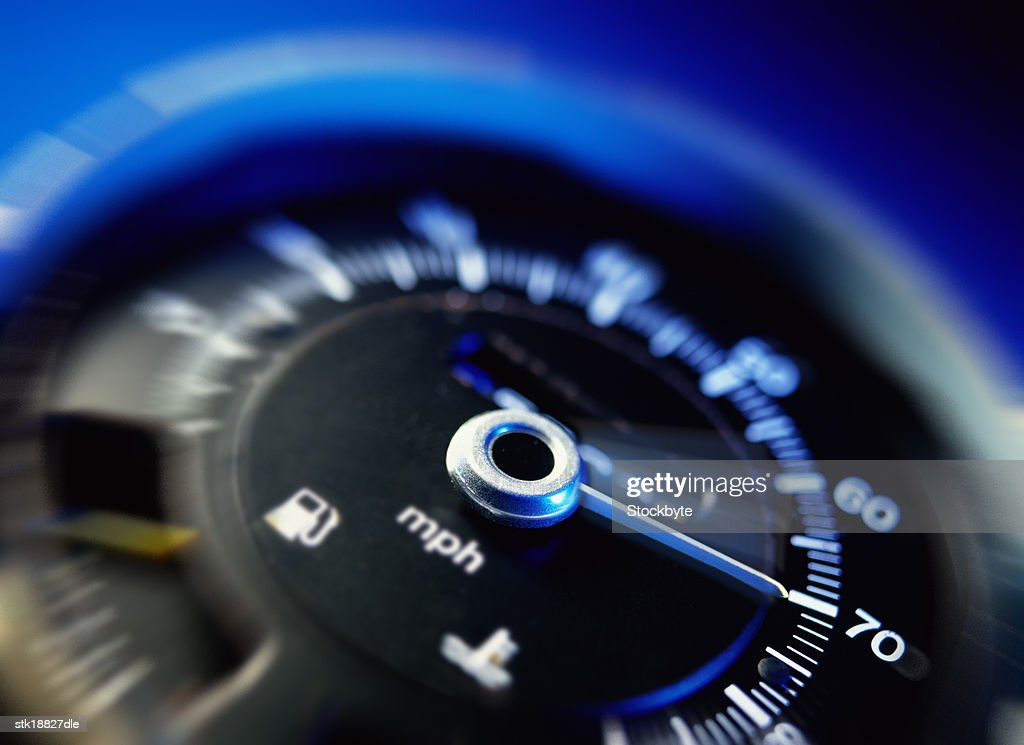 tungsten toned close-up of a speedometer
