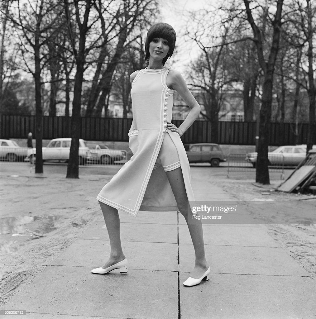 A tunic day dress with a split skirt by Pierre Cardin 26th January 1971