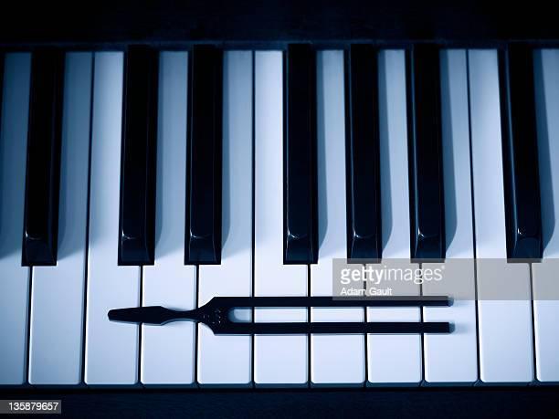 Tuning Fork and Piano Keys