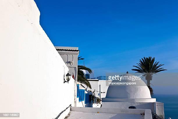 Tunisie, de Sidi Bou Saïd, une architecture traditionnelle.