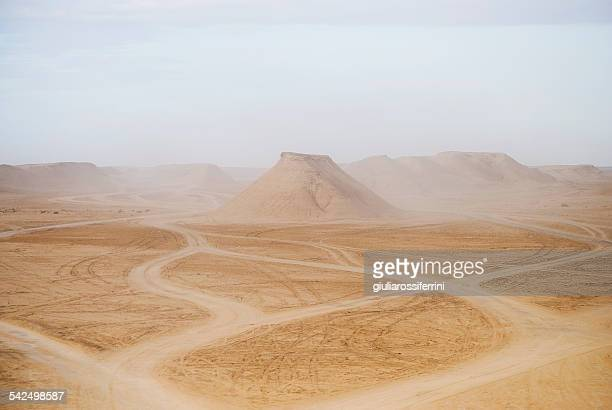 Tunisia, Tozeur, View of desert landscape