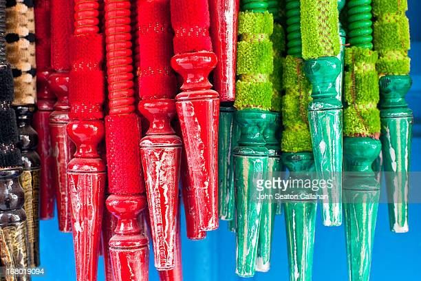 Tunisia, Tunis, mouthpieces for hookah pipes.