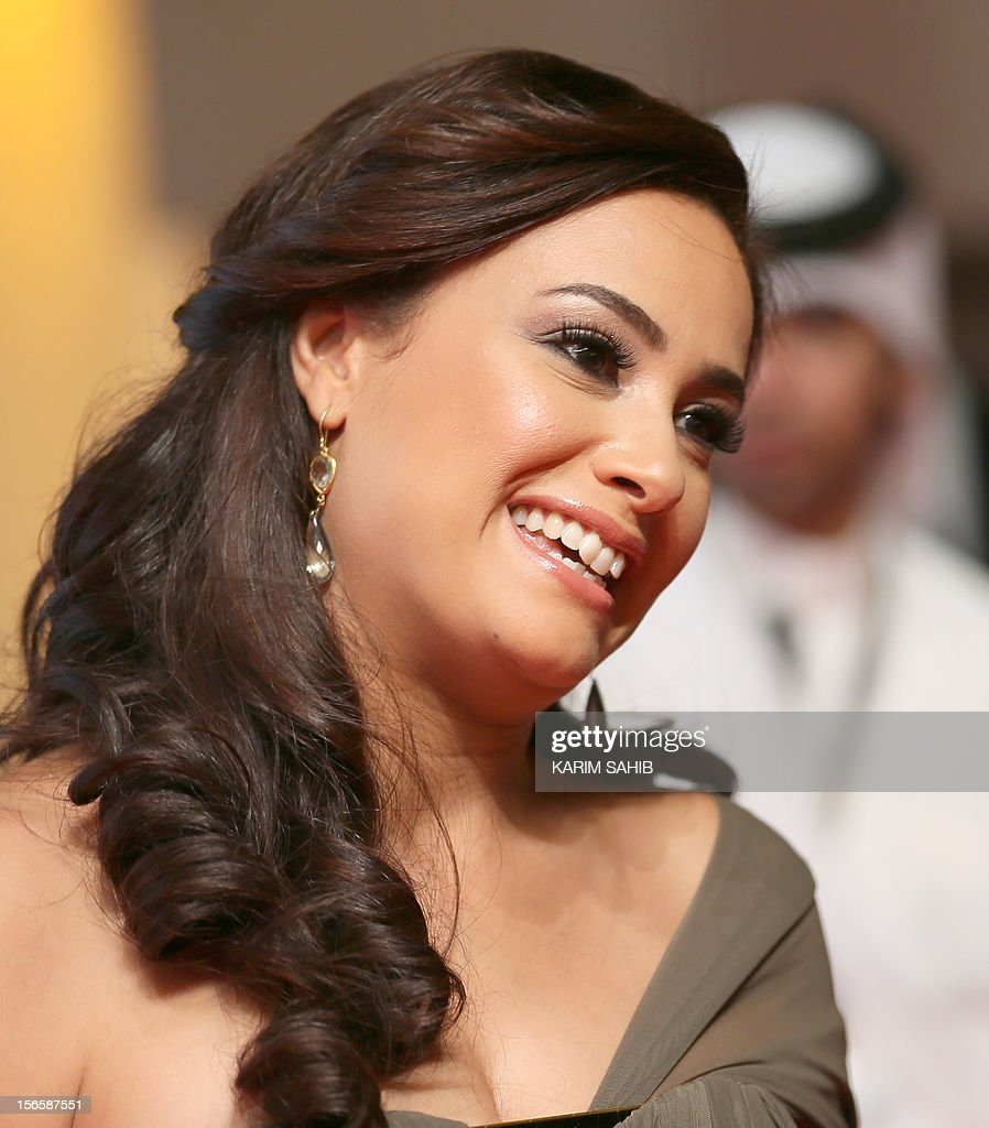 Tunisian actress Hind (Hend) Sabry (Sabri) attends the opening night of the Doha Tribeca Film Festival in the Qatari capital, on November 17, 2012. AFP PHOTO/KARIM SAHIB