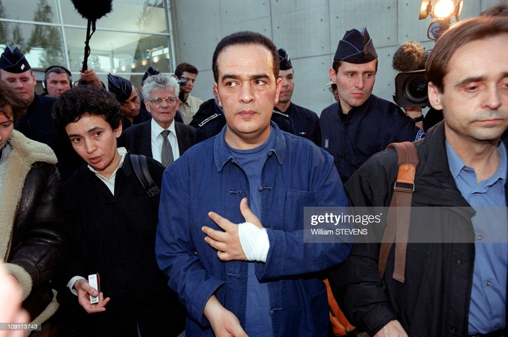 Tunisian Opposition Journalist Taoufik Ben Brik Arrives At Paris On April 5Th, 2000 In Paris, France. Ben Brik And <a gi-track='captionPersonalityLinkClicked' href=/galleries/search?phrase=Robert+Menard&family=editorial&specificpeople=554783 ng-click='$event.stopPropagation()'>Robert Menard</a>