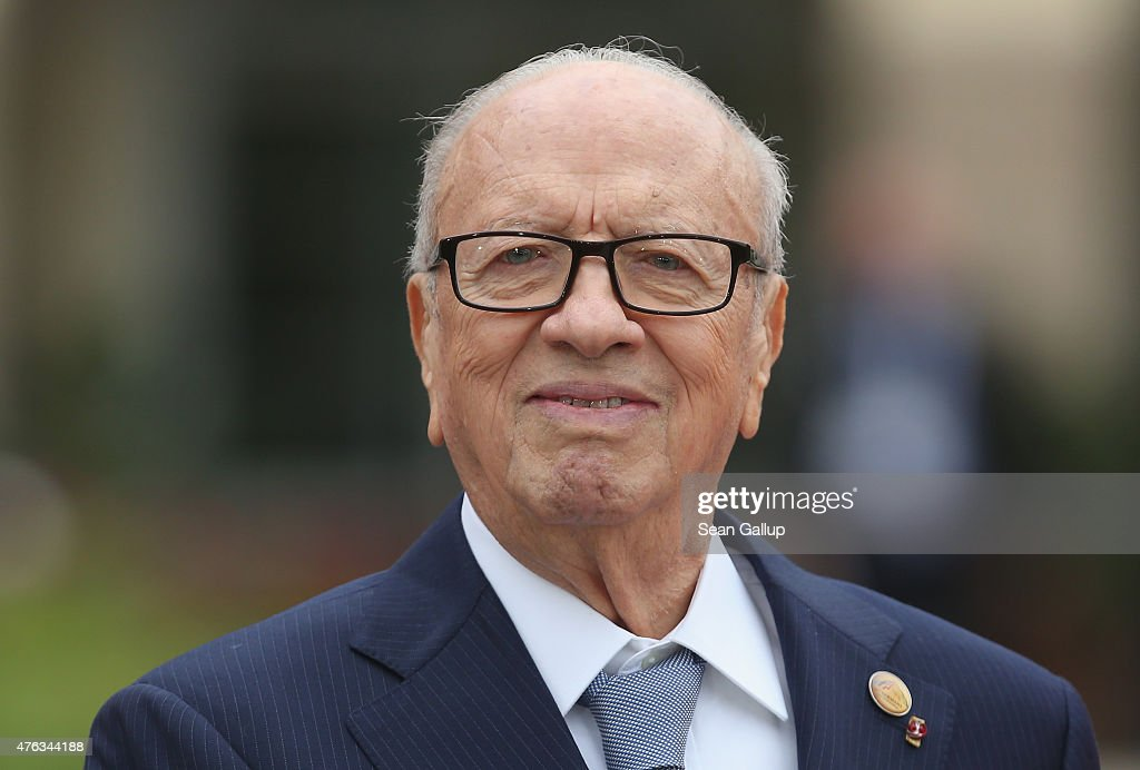 Tunisian President <a gi-track='captionPersonalityLinkClicked' href=/galleries/search?phrase=Beji+Caid+Essebsi&family=editorial&specificpeople=998512 ng-click='$event.stopPropagation()'>Beji Caid Essebsi</a> attends the Outreach program on the second day of the summit of G7 nations at Schloss Elmau on June 8, 2015 near Garmisch-Partenkirchen, Germany. In the course of the two-day summit G7 leaders are scheduled to discuss global economic and security issues, as well as pressing global health-related issues, including antibiotics-resistant bacteria and Ebola.