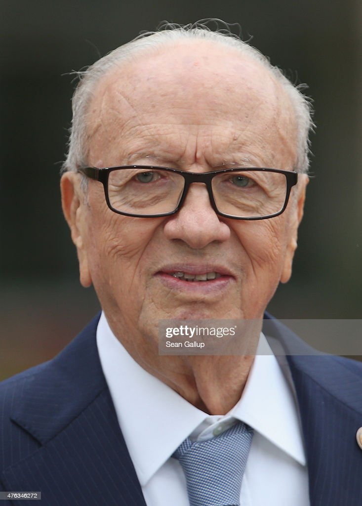 Tunisian President Beji Caid Essebsi attends the Outreach program on the second day of the summit of G7 nations at Schloss Elmau on June 8, 2015 near Garmisch-Partenkirchen, Germany. In the course of the two-day summit G7 leaders are scheduled to discuss global economic and security issues, as well as pressing global health-related issues, including antibiotics-resistant bacteria and Ebola.
