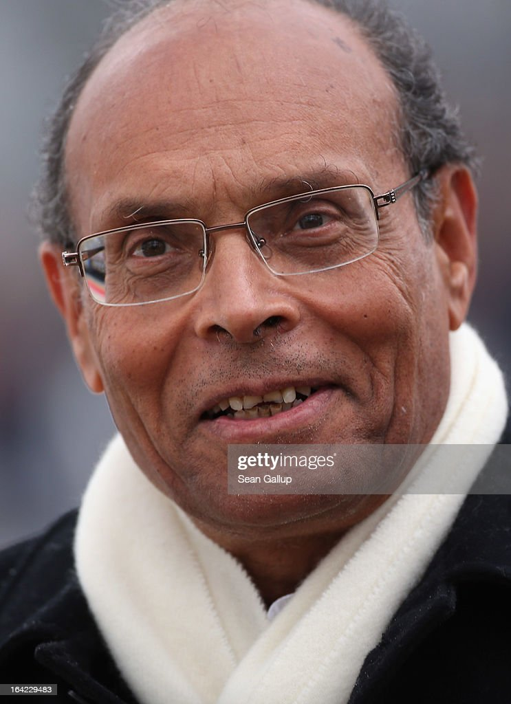 Tunisian President <a gi-track='captionPersonalityLinkClicked' href=/galleries/search?phrase=Moncef+Marzouki&family=editorial&specificpeople=2893986 ng-click='$event.stopPropagation()'>Moncef Marzouki</a> arrives to meet with German President <a gi-track='captionPersonalityLinkClicked' href=/galleries/search?phrase=Joachim+Gauck&family=editorial&specificpeople=2077888 ng-click='$event.stopPropagation()'>Joachim Gauck</a> at Bellevue Palace on March 21, 2013 in Berlin, Germany. Marzouki is on a two-day state visit to Germany and is scheduled to meet with German Chancellor Angela Merkel tomorrow.