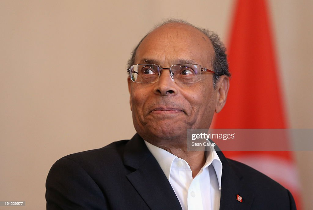 Tunisian President <a gi-track='captionPersonalityLinkClicked' href=/galleries/search?phrase=Moncef+Marzouki&family=editorial&specificpeople=2893986 ng-click='$event.stopPropagation()'>Moncef Marzouki</a> arrives to meet with German President Joachim Gauck at Bellevue Palace on March 21, 2013 in Berlin, Germany. Marzouki is on a two-day state visit to Germany and is scheduled to meet with German Chancellor Angela Merkel tomorrow.