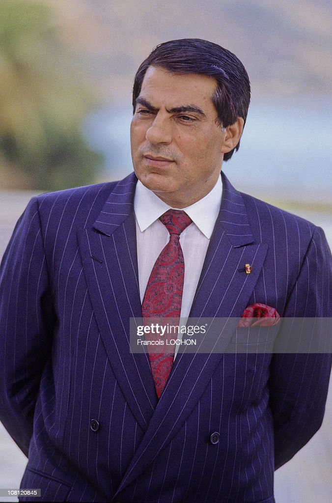 Tunisian President Zine el-Abidine Ben Ali is pictured in his Presidential Palace in on September 6th, 1988 in Carthage, Tunisia.