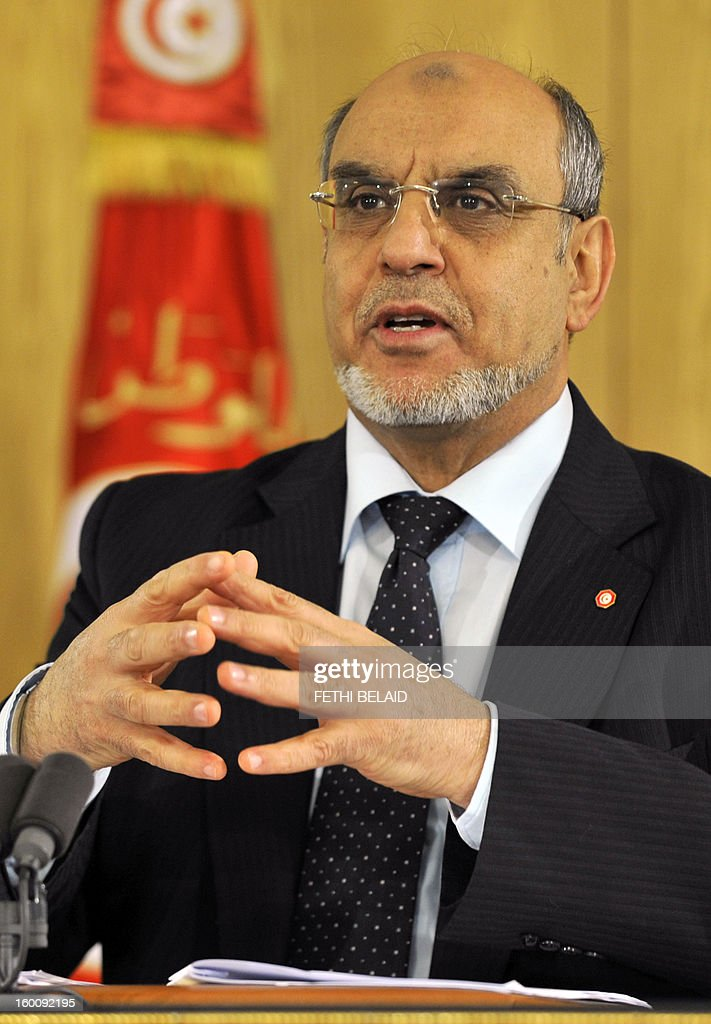 Tunisian Prime Minister Hamadi Jebali speaks during a press conference on the result of consultations with the political parties on a government reshuffle on January 26, 2013 in Tunis. Ruling Islamist party Ennahda, first said that a reshuffle was 'imminent' last July to enlarge the current coalition that also includes two secular centre-left parties, Ettakatol and President Moncef Marzouki's Congress for the Republic. AFP PHOTO / FETHI BELAID Sufi leaders soretent the mausoleum of Sidi Bellahsen Chadly after having completed their weekly ritual on January 26, 2013 in Tunis. The Tunisian government has promised to day measures 'emergency' to protect Sufi shrines covered by dozens of attacks, an announcement Saturday called 'positive' by the Union but tradive Sufi Tunisia accuses Salafi factions of these rampages .