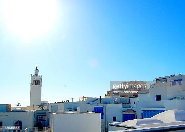 Tunisian sun over Sidi Bou Said