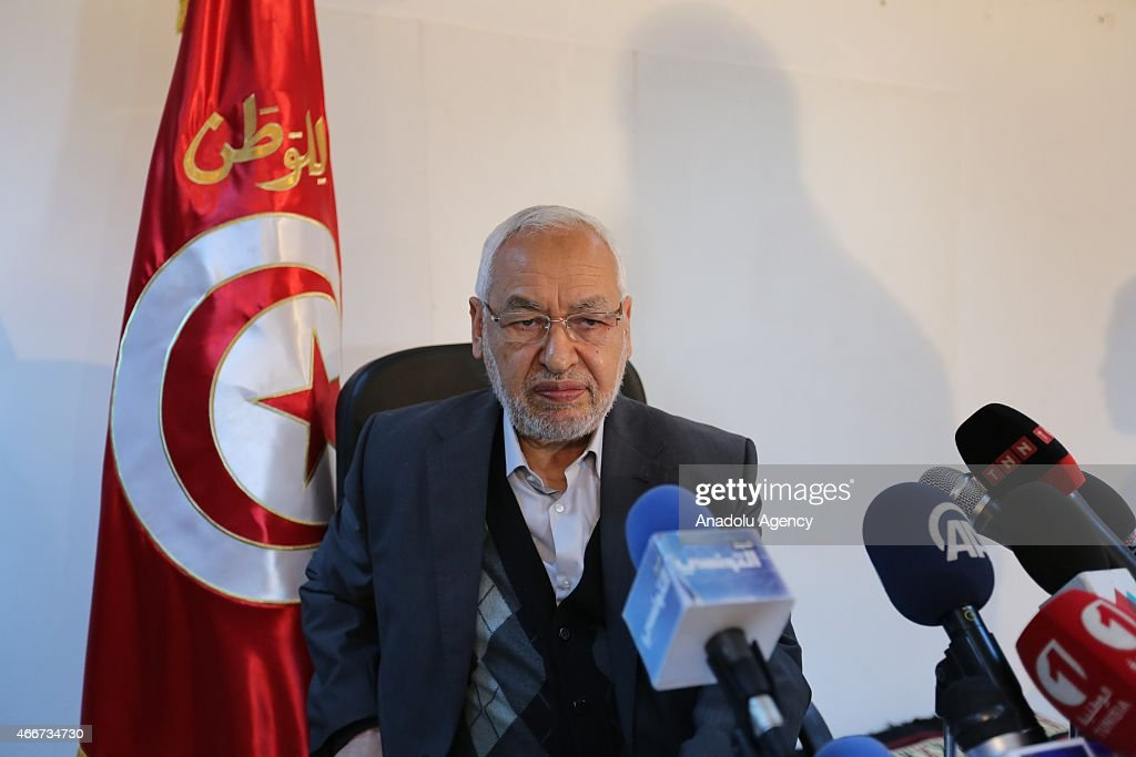 Tunisia's Ennahdha Movement Leader Rached Ghannouchi holds a press conference about deadly attack at the Bardo Museum in Tunis, Tunisia on March 18, 2015.