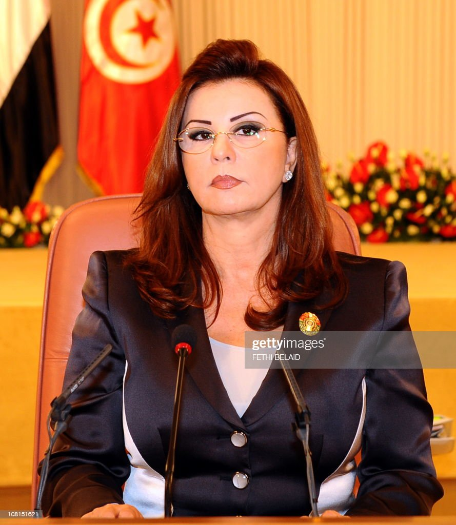 Tunisia's First Lady, Mrs <a gi-track='captionPersonalityLinkClicked' href=/galleries/search?phrase=Leila+Ben+Ali&family=editorial&specificpeople=3198746 ng-click='$event.stopPropagation()'>Leila Ben Ali</a>, gives a speech during the opening of the Third Arab Women's Organization Conference 'The arab woman in sustainable development' on October 28, 2010 in Tunis.