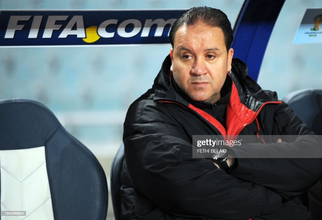 Tunisia's head coach Nabil Maaloul looks on during their FIFA 2014 World Cup qualifying match against Sierra Leone on March 23, 2013 at the Rades stadium in Tunis. Tunisia won 2-1.