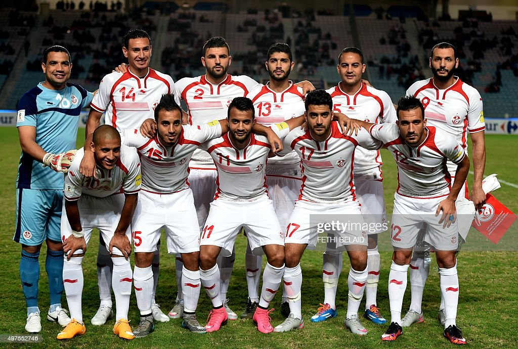 tunisia s national team pose for a photo prior to the fifa