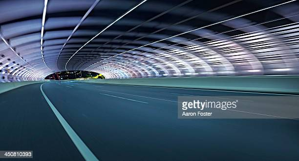 Tunnel at night