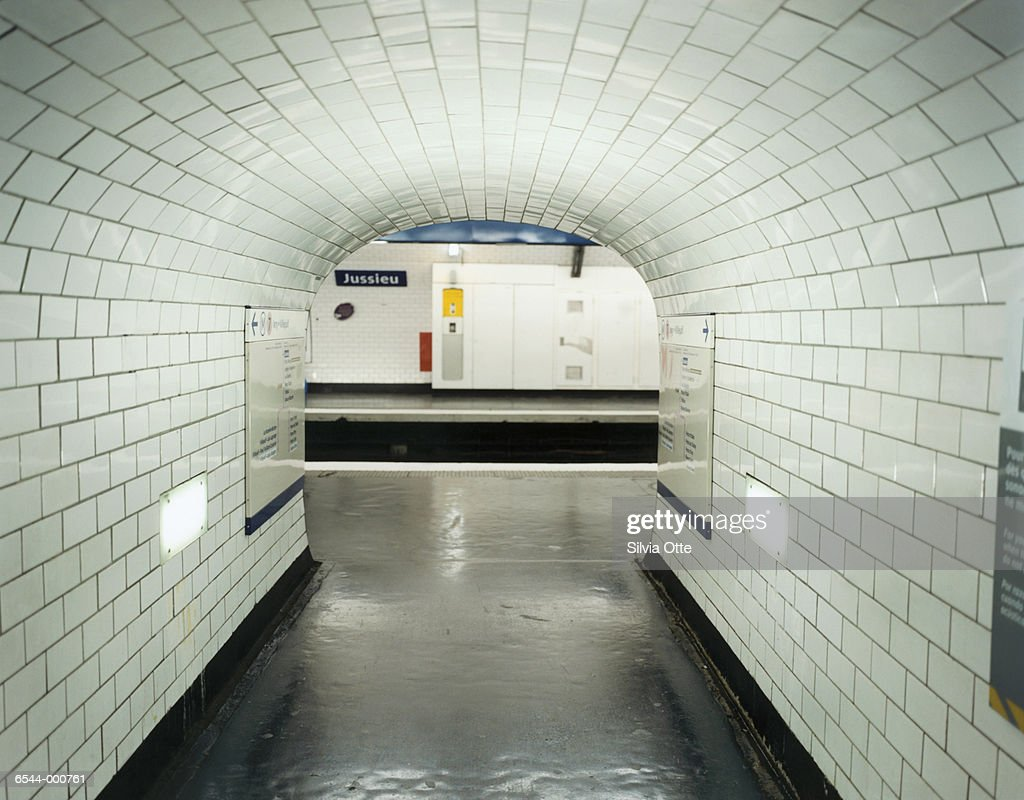 Tunnel in Paris Metro Station