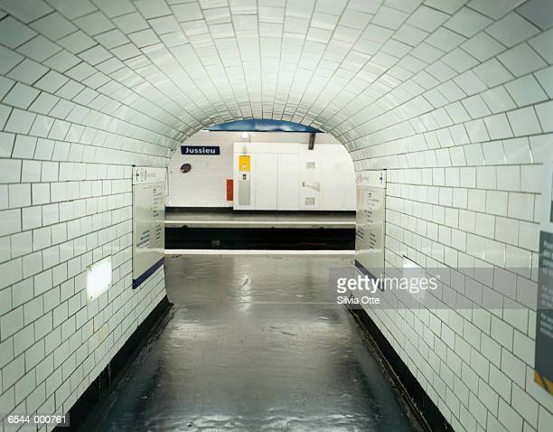 Tunnel in Paris Metro Station