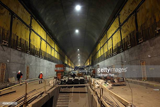 A tunnel of the East Side Access project one of the largest transportation infrastructure projects currently underway in the United States on...