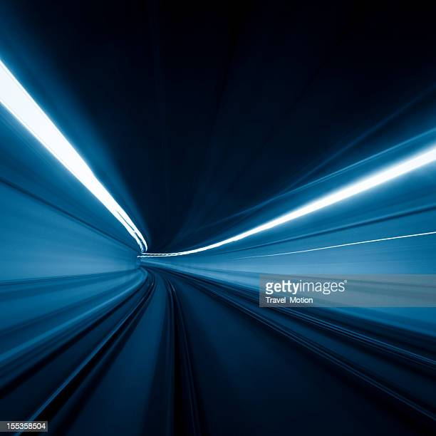 Tunnel speed motion light trails