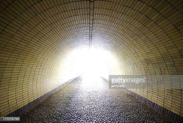 Tunnel with a light at the end