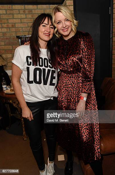 Tunstall and Lauren Laverne attend the launch of Help Refugees' 'Choose Love' winter appeal with Jamie Cullum and friends at The Jazz Cafe on...