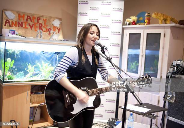 KT Tunstall performs live in the living room of Absolute Radio listener Tanya Barrow in Fleet as Christian O'Connell's Breakfast Show was broadcast...