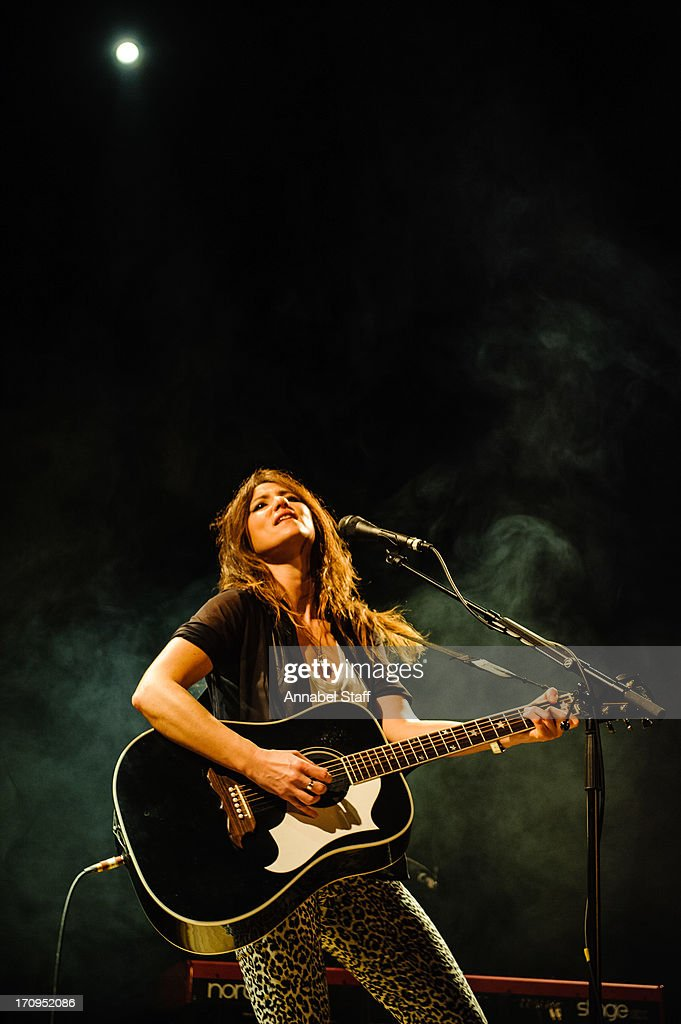 KT Tunstall performs on stage at Islington Assembly Hall on June 20, 2013 in London, England.