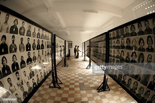 Tuol Sleng red khmer genocide museum in Phnom Penh Cambodia