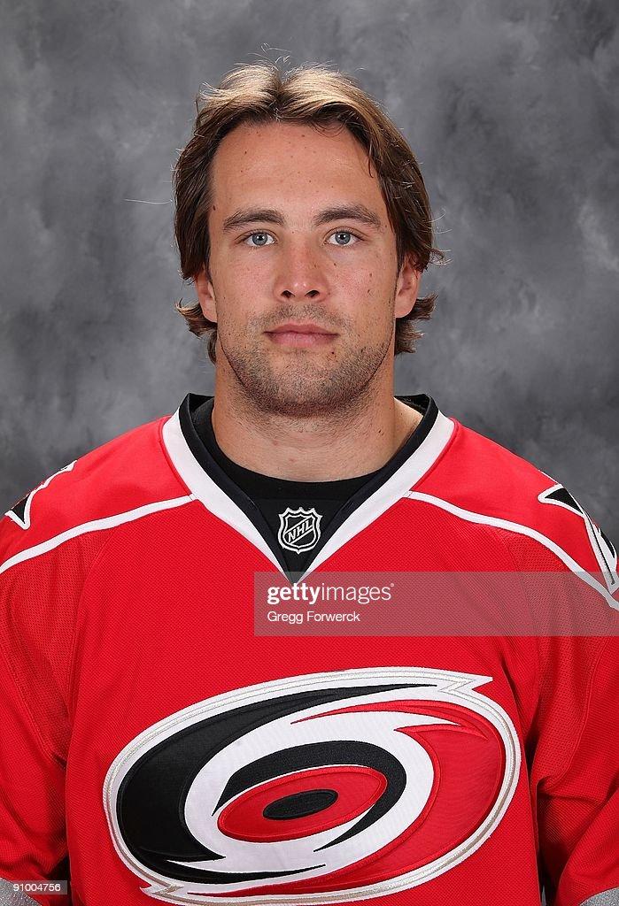 Tuomo Ruutu of the Carolina Hurricanes poses for his official headshot for the 2009-2010 NHL season.