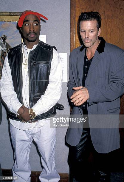 Tupac Shakur and Mickey Rourke at the Christie's in New York City New York