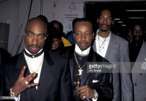 Tupac Shakur MC Hammer and Snoop Dogg at the Shrine Auditorium in Los Angeles California