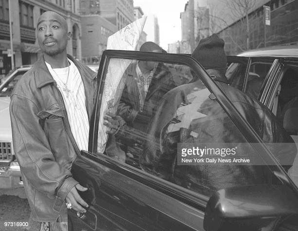 Tupac Shakur outside criminal court