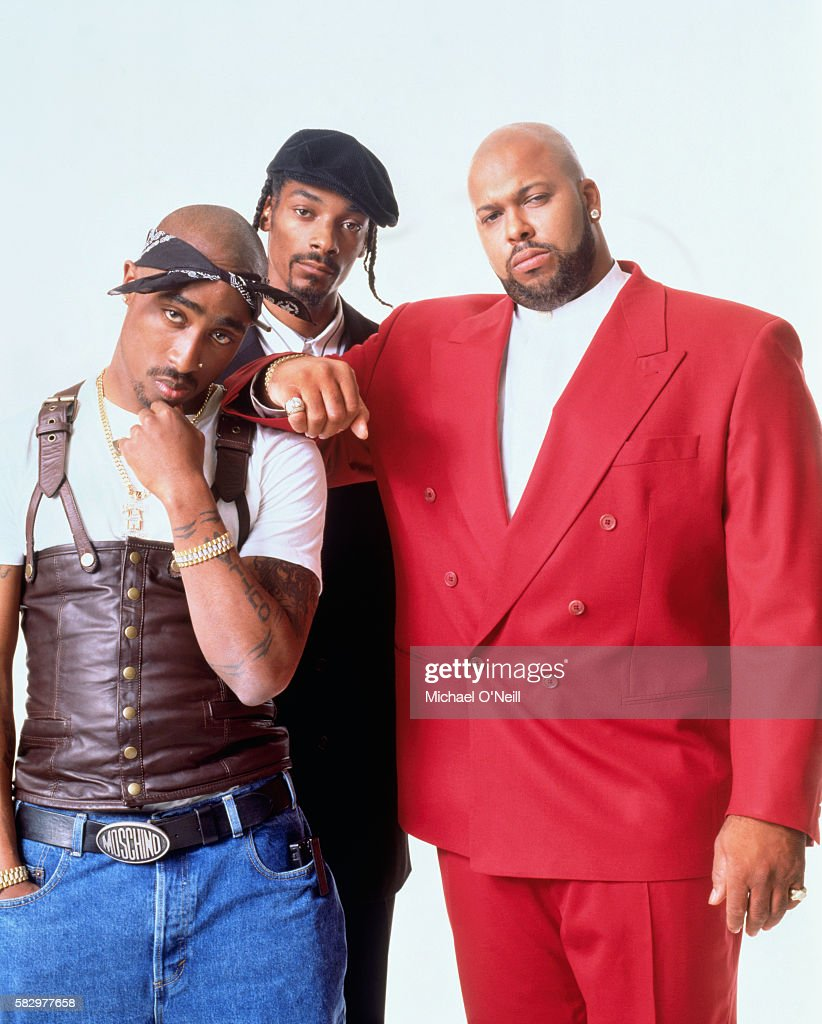 Tupac Shakur, Snoop Dogg and Suge Knight