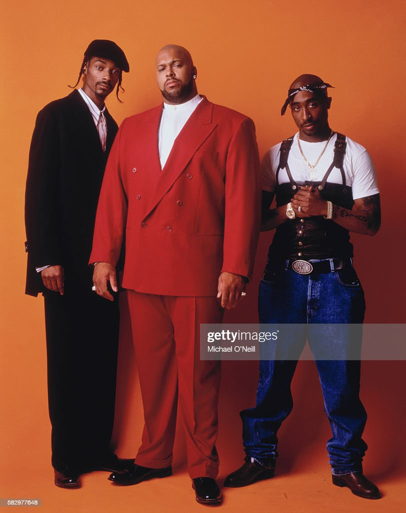 Snoop Dogg, Suge Knight and Tupac Shakur
