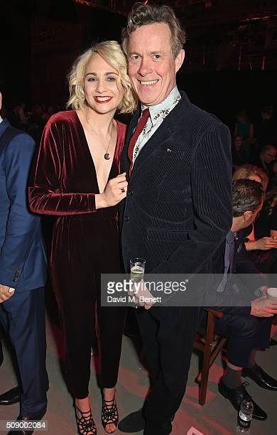 Tuppence Middleton and Alex Jennings attend a champagne reception at the London Evening Standard British Film Awards at Television Centre on February...