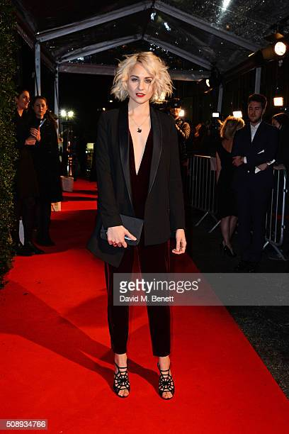 Tuppence Middleton arrives at the London Evening Standard British Film Awards at Television Centre on February 7 2016 in London England