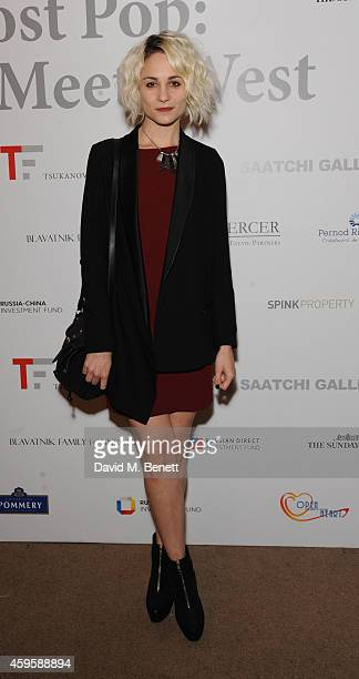 Tuppence Middleton attends a private view of 'Post Pop East Meets West' at The Saatchi Gallery on November 25 2014 in London England