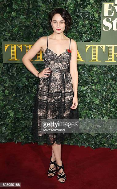 Tuppence Middleton attends The London Evening Standard Theatre Awards at The Old Vic Theatre on November 13 2016 in London England