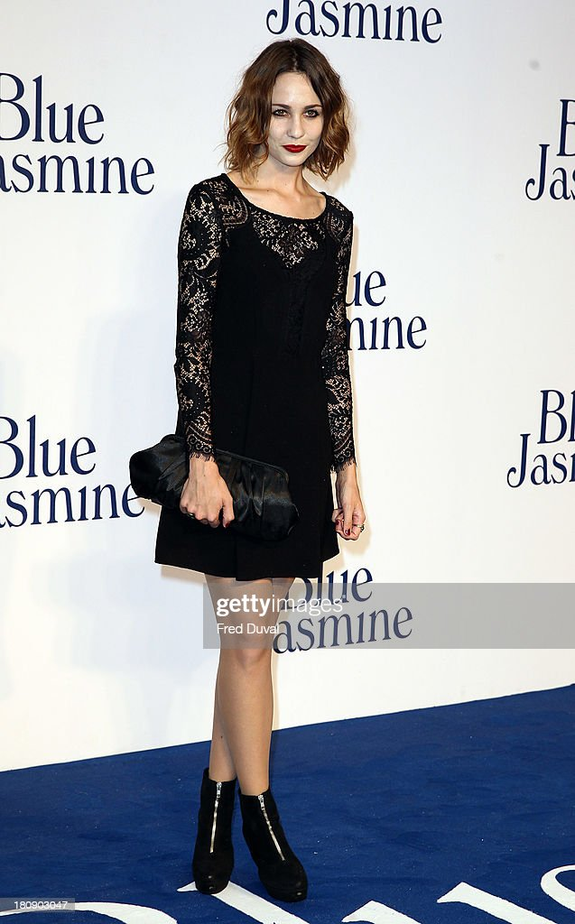 Tuppence Middleton attends the premiere of 'Blue Jasmine' at Odeon West End on September 17, 2013 in London, England.