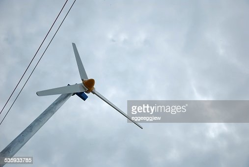 turbine in overcast. : Stock Photo