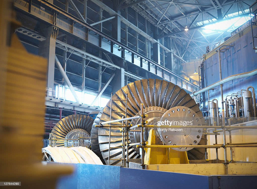 Turbines in power station