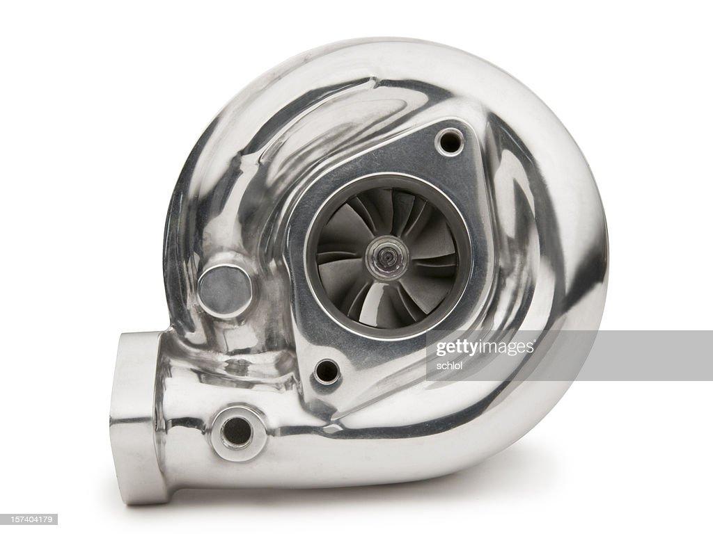 Turbocharger on White