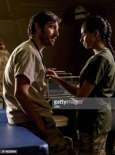 SHIFT 'Turbulence' Episode 405 Pictured Eoin Macken as TC Callahan Rana Roy as Amira
