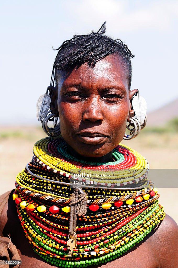Turcana Woman : Stock Photo