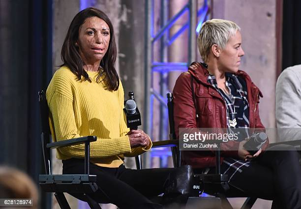Turia Pitt and Heather Jackson attend AOL Build to discuss the new show ''Ironman World Championship' at AOL HQ on December 6 2016 in New York City